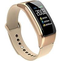 DMGF Rastreador De Ejercicios, Reloj Inteligente, Podómetro De Monitor De Sueño Impermeable Ip67,