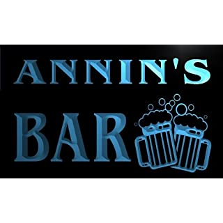 w087735-b ANNIN Name Home Bar Pub Beer Mugs Cheers Neon Light Sign