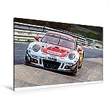 Premium Textil-Leinwand 120 x 80 cm Quer-Format Frikadelli Racing Team - Porsche 991 GT3R | Wandbild, HD-Bild auf Keilrahmen, Fertigbild auf hochwertigem Vlies, Leinwanddruck von Christian Schick