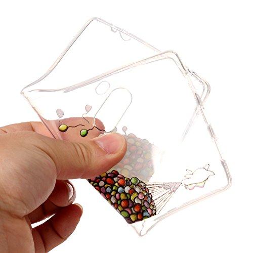 Xiaomi Mi Mix Custodia, Xiaomi Mi Mix Cover, JAWSEU Xiaomi Mi Mix (6.4) Protezione Bumper Cristallo Trasparente Custodia Cover per Xiaomi Mi Mix Case Caso Bella Creativo Disegno Luminoso Ultra Sottile Palloncino
