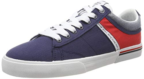 Pepe Jeans London Herren North Half Sneaker, Blau (595navy 595), 43 EU