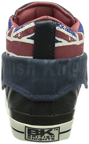 British Knights Roco, Baskets mode mixte adulte Bleu (navy-union Jack-burgundy 03)