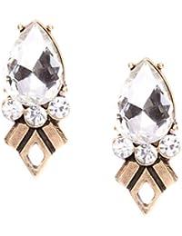 5935fc9e5c62 Happiness Boutique Damas Pendientes Llamativos de Cristal en Oro