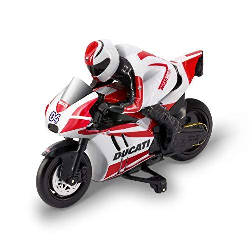 Kidz Tech - Ducati Fahrer-Fernbedienung Motorrad - Offizielle Lizenz - Ducati Fahrer RC 2,4 GHz - Batterie und Batterien inklusive - Wiederaufladbar - Maßstab 1/12