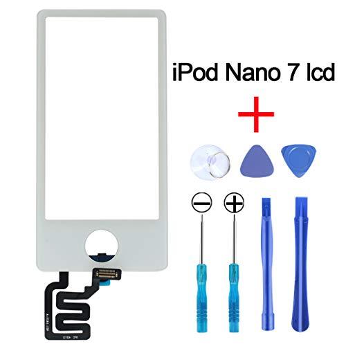 GRUTTI Glasscreen Touch Digitizer Ersatz für iPod Nano 7 7. Generation Weiß (ohne LCD)-MEHRWEG - Touch Ipod Digitizer