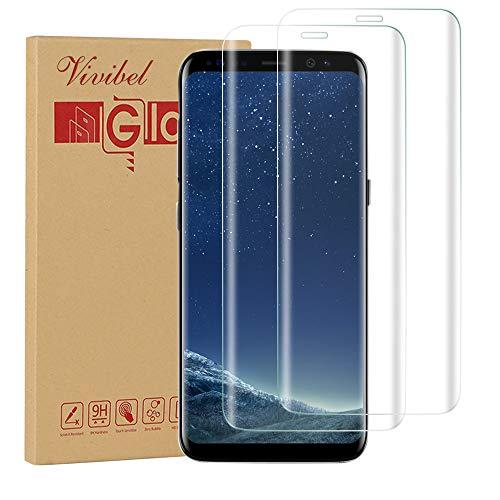 Galaxy S8 Schutzfolie,Vivibel [2 Stück] Galaxy S8 HD Displayschutzfolie 9H Härte/Gute Qualität/Vollständige Abdeckung/Einfaches Anbringen für Samsung Galaxy S8 (Transparent)