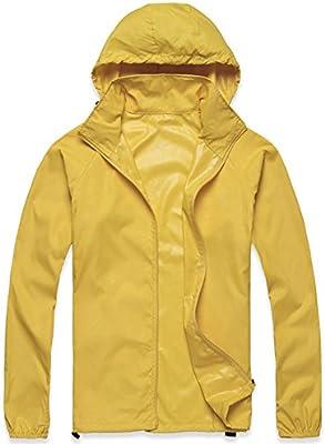 Mochoose Mujer Súper Ligera Impermeable Chaqueta con Capucha al Aire Libre Seco Rápido Cortavientos Impermeable UV Proteger el Escudo de la Piel