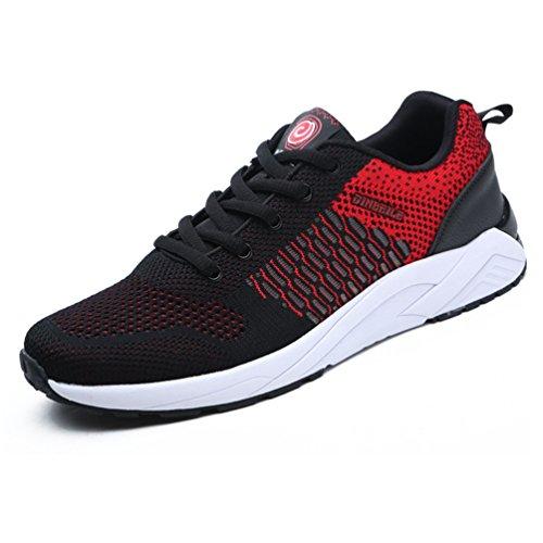 Lfeu Unisexe Chaussures De Course Sur Sentier - Adulte Noir Rouge