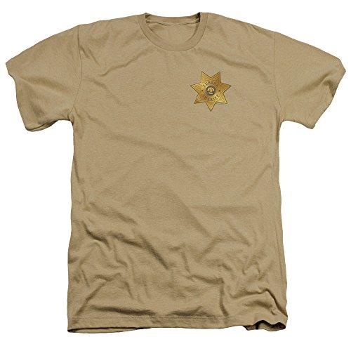Trevco Herren Eureka Badge Heather Adult T-Shirt, Sand, XX-Large -
