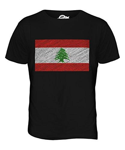 CandyMix Libanon Kritzelte Flagge Herren T Shirt Schwarz
