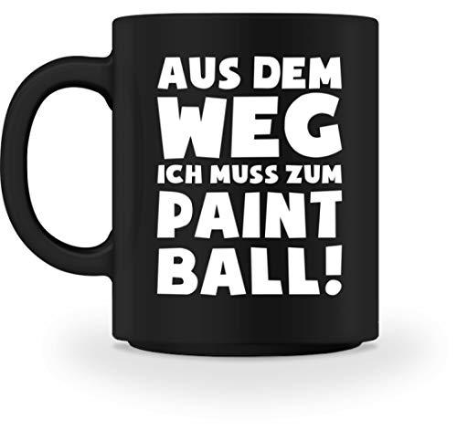 shirt-o-magic Paintball Softair: Muss zum Paintball! - Tasse -M-Schwarz