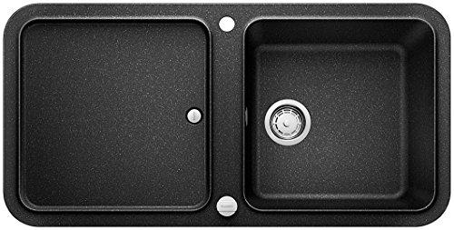 Preisvergleich Produktbild Blanco YOVA XL 6 S, Küchenspüle, Granitspüle aus Silgranit PuraDur, 1 Stück, anthrazit-schwarz, 519583