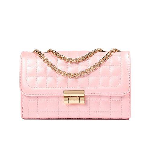 Borsa Tracolla Borsa Catena Lingge Moda Messenger Bag Selvatici Pink