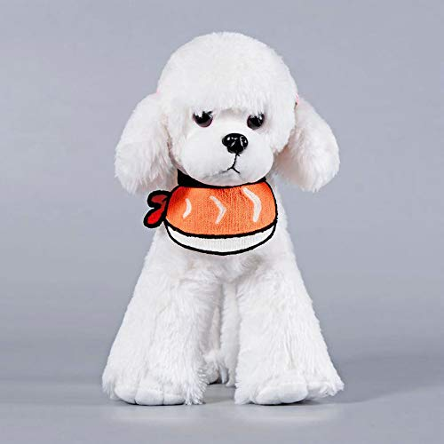 PZSSXDZW Speicheltuch Lätzchen Frühling und Sommer Neue Hund Sushi Garnelen Lätzchen Lätzchen