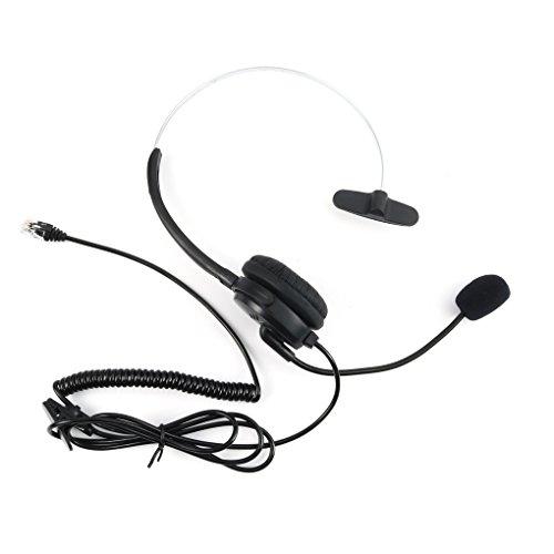 Hotaluyt Call-Center-Telefon/IP-Telefon-Headset mit verstellbarem Boom Mic 4-pin RJ9 Modularstecker - Boom Mic Headset