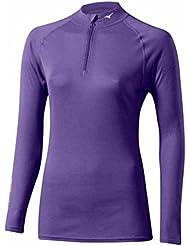 Mizuno Middle Weight Active W 1/2 zip purple