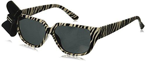 Rhode Island Novelty Zebra Print Nerd Brille mit Schleife