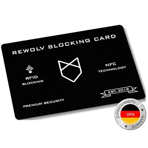 REWOLV RFID Blocker Karte - Premium - Eine Karte schützt die gesamte Geldbörse vor Datendiebstahl - ohne RFID Schutzhülle Kreditkarten - Neuste Technologie und erhöhter Schutzradius (NFC)