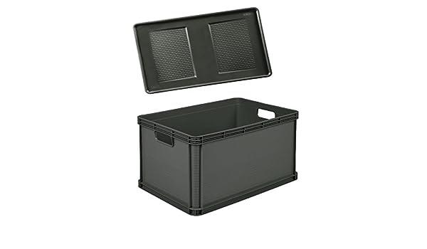 2 x Robusto-Box 64 L grau Aufbewahrungsbox Box Kiste