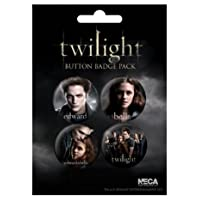 Twilight - Edward + Bella - Badge Pack - 4 x 38mm Badges