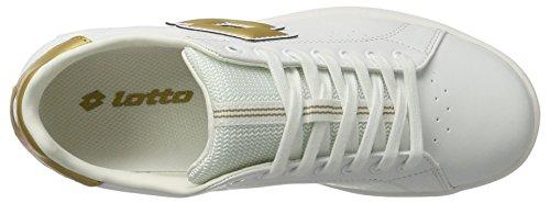 Lotto Sport 1973 V W, Sneakers Basses Femme Blanc (Wht/gld Str)