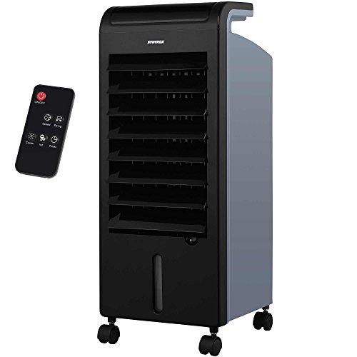Produktbild Syntrox Germany 4 in 1 Luftkühler Luftbefeuchter Lufterfrischer und Ventilator mit Touch Panel und Fernbedienung Luftdurchsatz 900 m³/h AC-80W-5L Soft