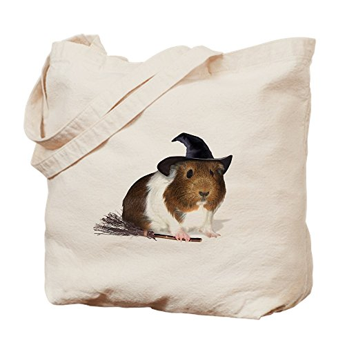 ea Pig Hexe Trick or Treat Bag – Natural Canvas Tote Bag, Stoff Einkaufstasche S khaki (Guinea Pig Halloween)