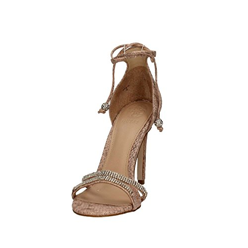 Guess Peri femmes, cuir lisse, sandales Nude