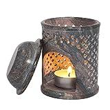 Jali marokkanischer Öl-Diffusor, Duftlampe aus Speckstein, Teelichthalter, zum Warmhalten, Ölbrenner, für Aromatherapie