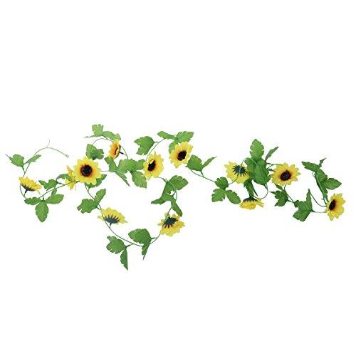 VORCOOL Künstliche Blumen Reben Sonnenblumen Girlande Kunstpflanze DIY Garten Hochzeit Dekoration...