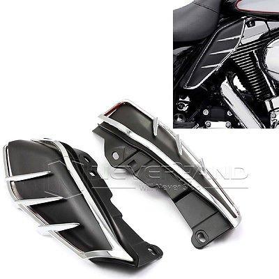 PreAdvisor(TM)New A Pair ABS Plastic Mid-Frame Air Deflectors Trims For Harley Touring FLHRC FLHTCUTG FLHTCU 2009 2010 2011 2012 2013 Free C20