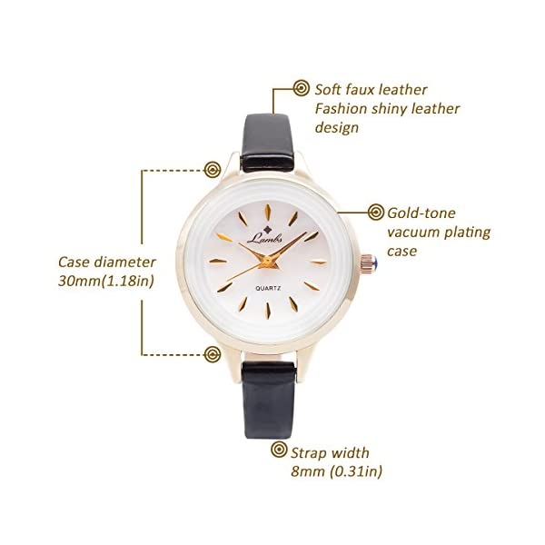 Ladies Watches Sale ClearanceGirls Fashion Watches Sale ClearanceLadies Classic Waterproof Quartz Wrist Watches With Leather Strap White Dial Analogue Display Easy To Read Times Black01