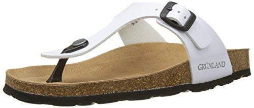 GRUNLAND Anin, Zapatos de Playa y Piscina para Mujer, Blanco (Perla Perl), 36 EU
