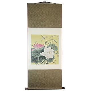Meqiero China handmade embroidery tapestry,interior decoration,silk lotus figure,historical treasures