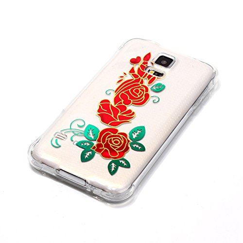 Qiaogle Telefon Case - Weiche TPU Case Silikon Schutzhülle Cover für Apple iPhone 7 (4.7 Zoll) - YY02 / I love you YY08 / Drei Rosen