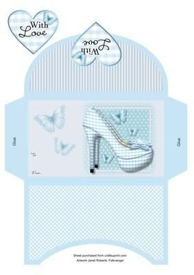 A quadretti blu scarpe Portafogli by Janet Roberts