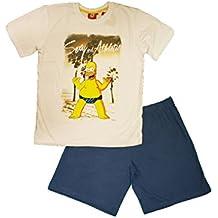 Simpsons - Pijama - para Hombre Blanco Azul Large