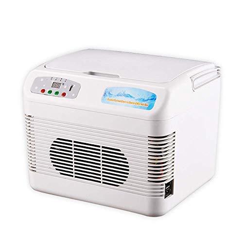 CNDY Intelligente Temperaturregelung Bierkühlschrank, geräuscharme Energiespar 12Loutdoor Kühlschrank Kühlung und Heizung Mini-Kühlschrank für touristische Partys, etc, Weiß