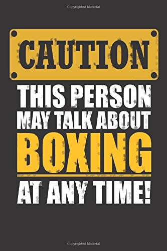 Caution this person may talk about Boxing: Small blank sketchbook (6