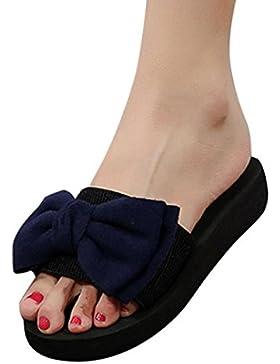 Ba Zha Hei-Sandalias Venta Caliente! Sandalias Minimalistas, de Sandalias con Cordones Gruesos Pajarita de Zapatos...