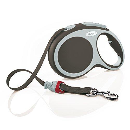 Flexi Roll-Leine Vario L Gurt 8 m braun für Hunde bis max. 50 kg (Braun Hund Dog Halsband)