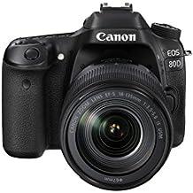 Canon EOS 80D Plus EF-S 18 - 135 mm IS USM Lens - Black