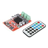 Festnight TPA3116 2 * 50W Wireless BT 4.0 Audio Receiver Board Stereo Amplifier Module DC 8-26V with Remote Control