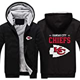 LCY Männer NFL Hoodies - Kansas City Chiefs Football Fans Langarm Eindickung beiläufige Reißverschluss Jersey Sweater