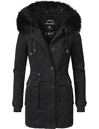 Navahoo Damen Winter Mantel Baumwoll Parka Luluna 7 Farben XS-XXL