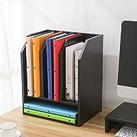RFIVER Porta Documenti e Lettere Ideale per Scrivania e Studio Cataloghi Mobili Organizer Scrivania Ufficio Nero DO1002