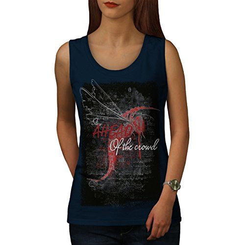 Libelle Slogan Mode Drachen Fliege Damen S-2XL Muskelshirt | Wellcoda Marine
