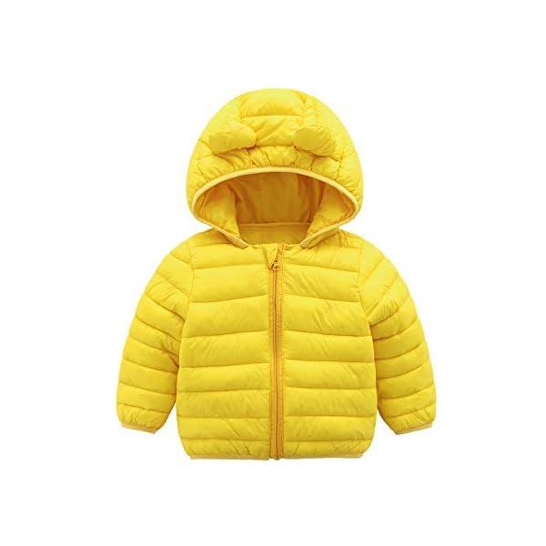 CECORC Abrigos de invierno para niños con capucha (Acolchada) - Chaqueta acolchada ligera para Unisex bebés 1