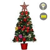 Baunsal GmbH & Co.KG Weihnachtsbaum Tannenbaum Christbaum künstlich 45 cm mit Dekoration geschmückt und Lichterkette mit Micro LEDs