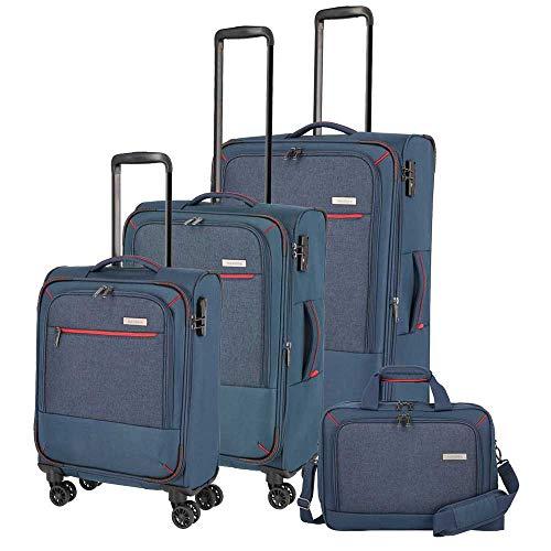 Travelite Reisegepäck-Serie 'ARONA' attraktive Trolleys und Bordtaschen in 3 Farben Koffer-Set, 77 cm, 195 L, Marine